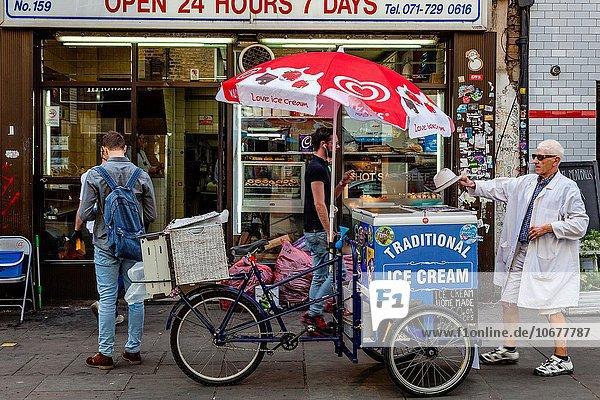 London Hauptstadt Eis Verkäufer Sahne England
