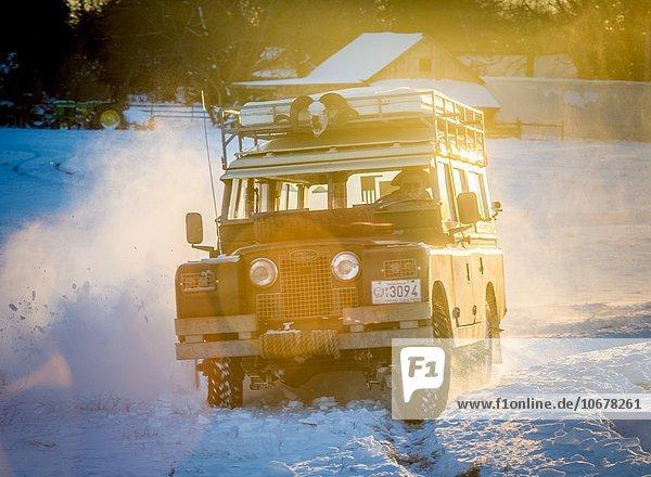 Vereinigte Staaten von Amerika USA fahren Serie Landschaft Land Rover Maryland Schnee