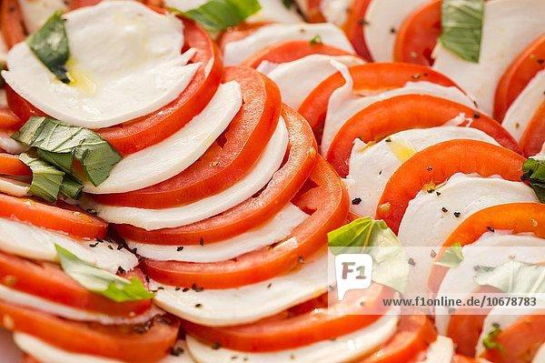Vereinigte Staaten von Amerika USA Salat Close-up Caprese Baltimore Maryland