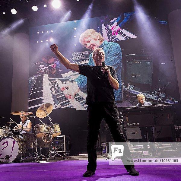 Singer Ian Gillan of the rock band Deep Purple  concert in Munich  Bavaria  Germany  Europe