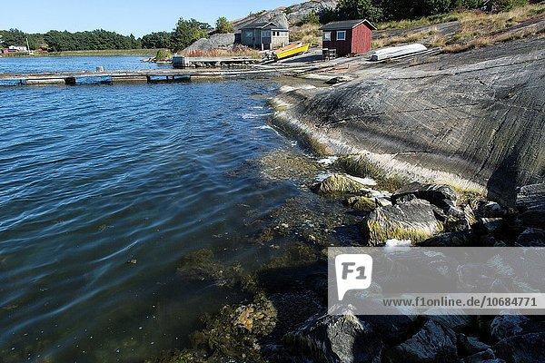 Meer Insel Siedlung Alandinseln Baltikum Finnland