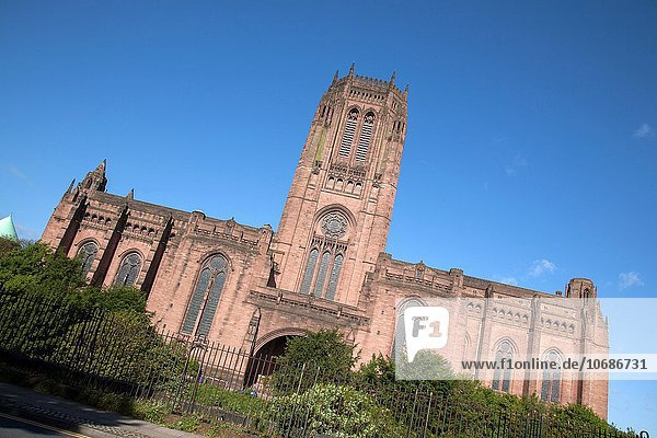 Anglican Cathedral  Liverpool  England  UK.