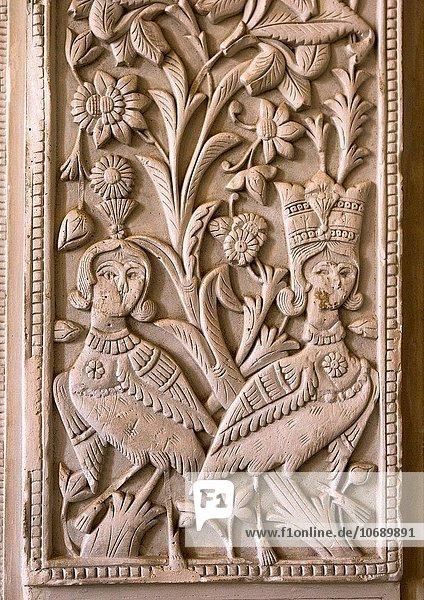 Verputz Wand Wohnhaus Innenhof Hof Iran Provinz Esfahan