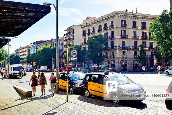 Taxi Barcelona Katalonien Spanien