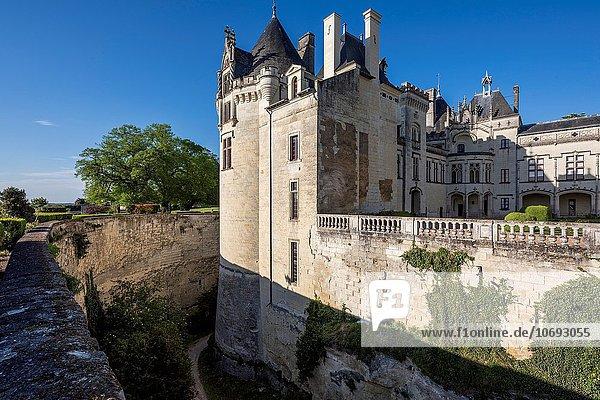 Feuerwehr Frankreich Europa Palast Schloß Schlösser unterhalb Festung Unterführung Geographie unglaublich Loire Loiretal Maine
