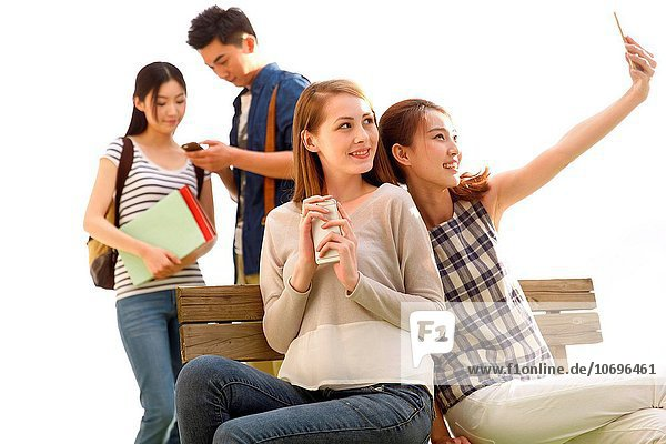 Young people using smart phone
