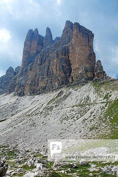 Ansicht 3 Dolomiten Berggipfel Gipfel Spitze Spitzen Italien