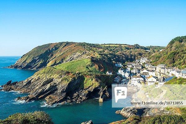Großbritannien Dorf Cornwall England