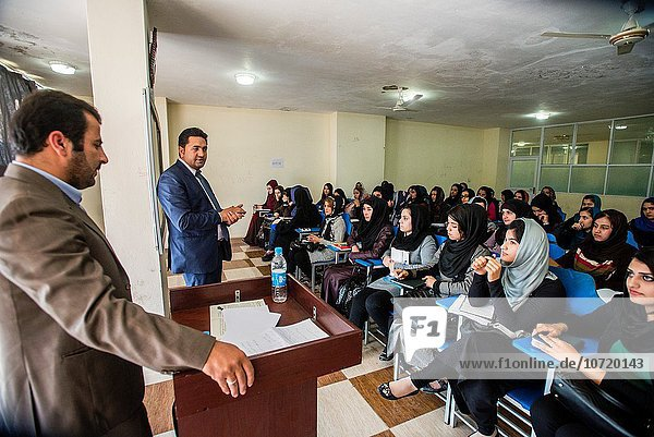 Female law class in Mashal institute of higher education  Kabul  Afghanistan.
