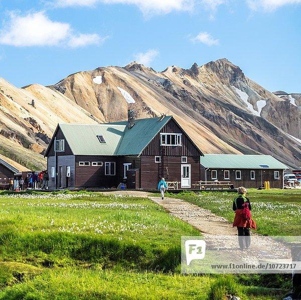 Landmannalaugar Camp area  Highland Iceland.