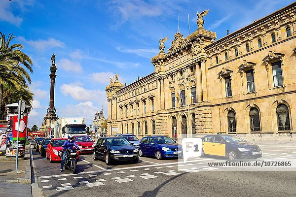 Tradition Auto warten Gebäude Design Rote Ampel Barcelona Katalonien alt Spanien