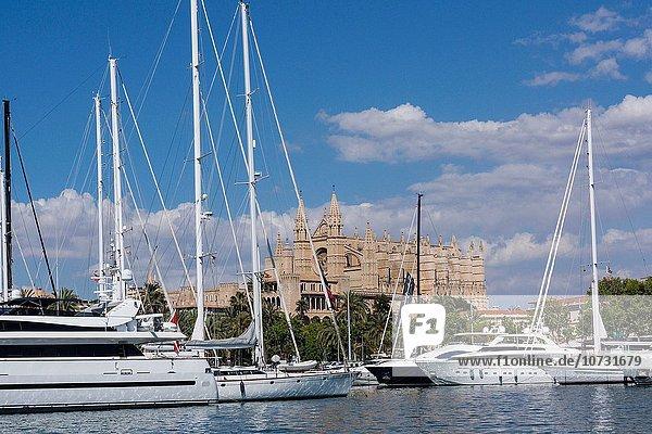 Europa Mallorca Palma de Mallorca Kathedrale Balearen Balearische Inseln Spanien
