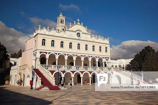 Europa Kirche Ansicht Kykladen Griechenland Griechische Inseln