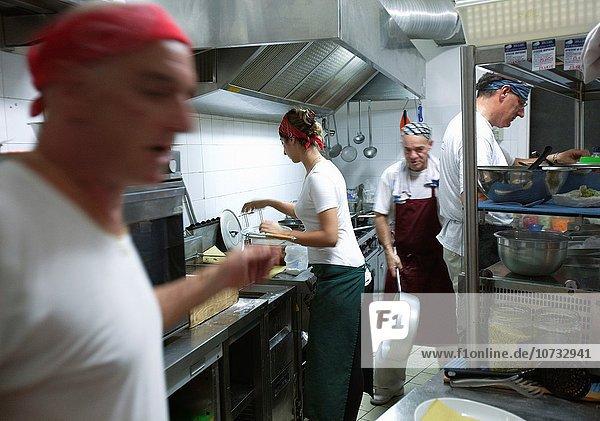 Küche Restaurant Italien Ligurien