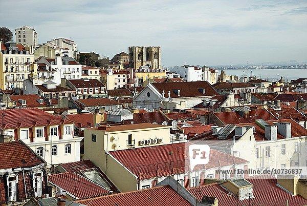 Lissabon Hauptstadt Skyline Skylines Europa Großstadt Portugal