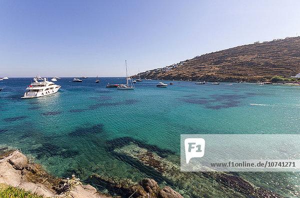 Greece,  Cyclades Islands,  Mykonos Island,  Psarou beach