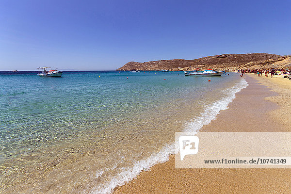 Greece  Cyclades Islands  Mykonos Island  Elia beach