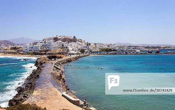 Greece  Cyclades Islands  Naxos  chora landscape