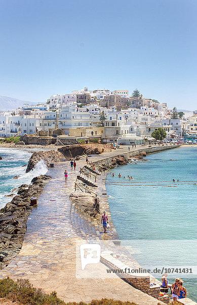 Greece  Cyclades Islands  Naxos  chora landscape