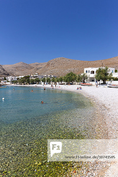 Greece  Cyclades  Folegandros Island  beach near the harbour