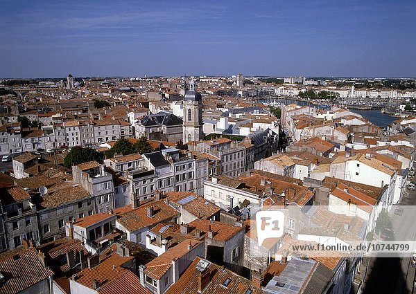 Panorama Skyline Skylines Frankreich Luftbild La Rochelle