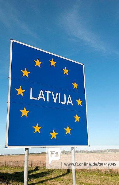 Europa europäisch Europäische Union EU Einheit Zeichen Lettland Grenze Litauen Gewerkschaft