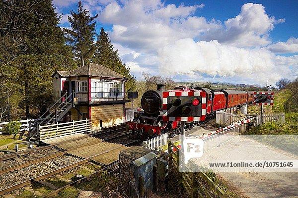 Großbritannien Zug Vorbereitung Jubiläum Cumbria England Linie