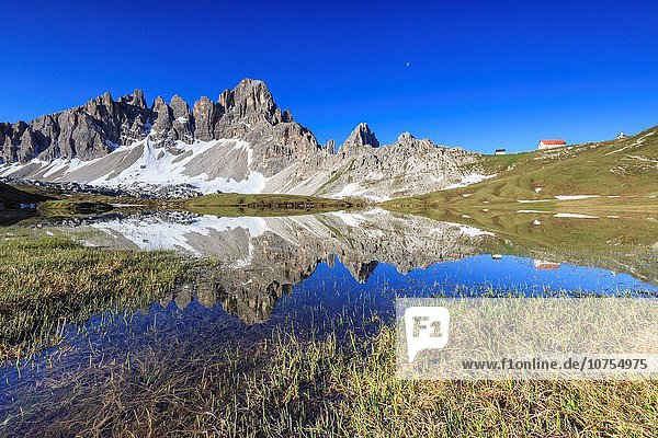 Europa Ansicht Berg Dolomiten Flucht Italien