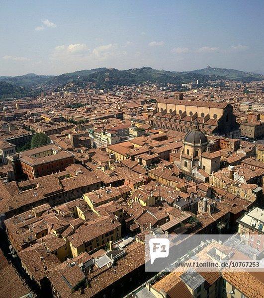 Skyline Skylines Emilia-Romangna Luftbild Bologna Italien