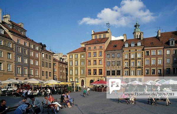 Warschau Hauptstadt Mensch Menschen Polen