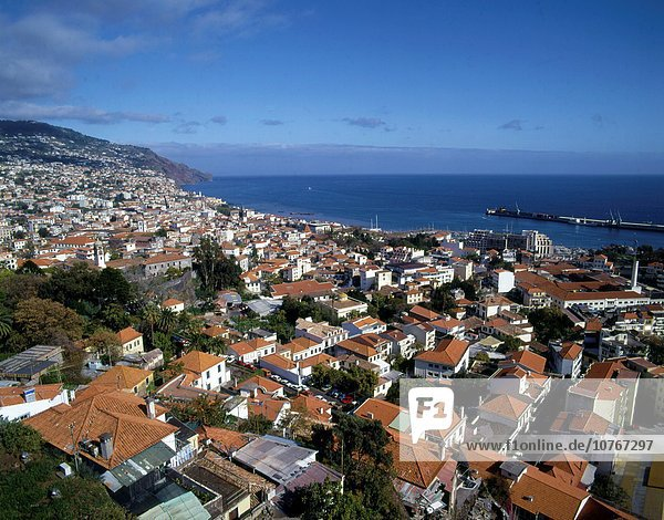 Portugal  Madeira  Funchal  aerial view  panorama .