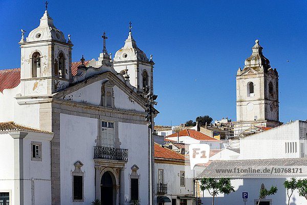 Europa Hintergrund Renovierung Altstadt Algarve Lagos Portugal