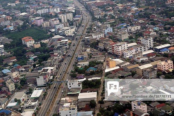 Bangkok Hauptstadt Großstadt Ansicht Luftbild Fernsehantenne Thailand