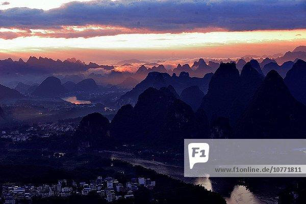 Landschaftlich schön landschaftlich reizvoll Guangxi Guilin Yangshuo