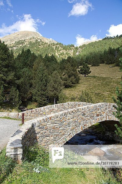 Berg Landschaft Tal Andorra Pyrenäen