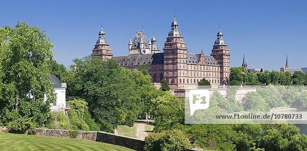Schloss Johannisburg  Main  Aschaffenburg  Bayern  Unterfranken  Franken  Deutschland  Europa