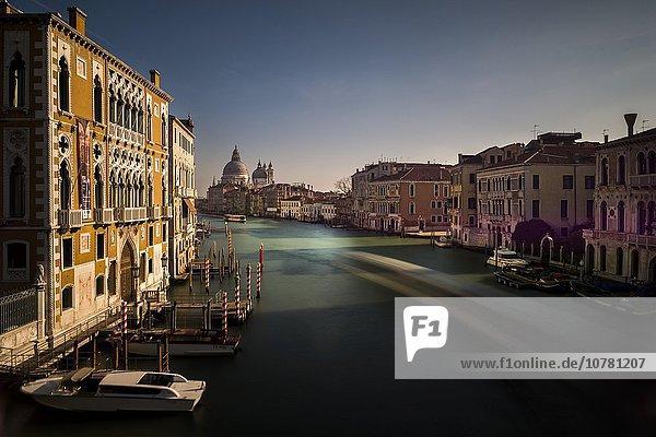Grand Canal  behind Santa Maria della Salute  Venice  Veneto  Italy  Europe
