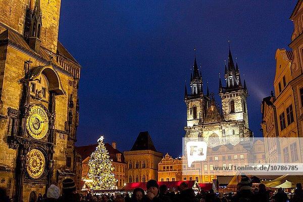 Prag Hauptstadt Tschechische Republik Tschechien Weihnachtsmarkt