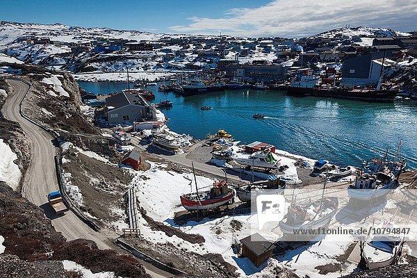 Erhöhte Ansicht Aufsicht Diskobucht Disko-Bucht Grönland Ilulissat