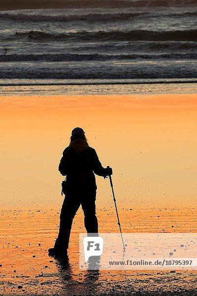 4 Strand Sonnenuntergang wandern