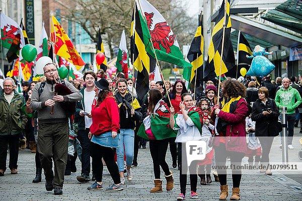 Tag Fest festlich Großbritannien Heiligtum Kunde Swansea Wales
