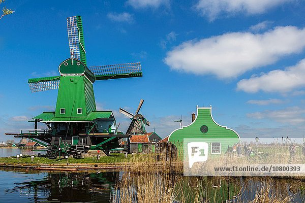 Europa Geschichte Dorf Windmühle Niederlande