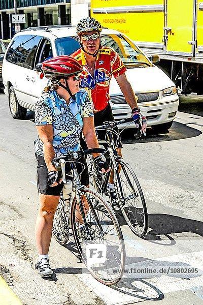 Vereinigte Staaten von Amerika USA Fahrradfahrer Sport Innenstadt
