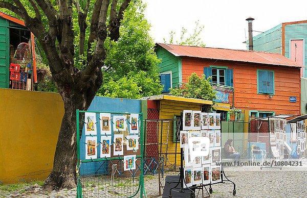 Farbaufnahme Farbe Helligkeit Straße Tourist Zeichnung verkaufen Gemälde Bild Anfang Argentinien