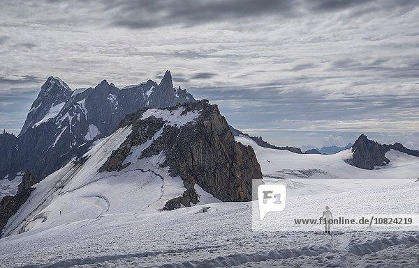 Kletterer am Gletscher  Mer de Glace  Mont Blanc  Frankreich