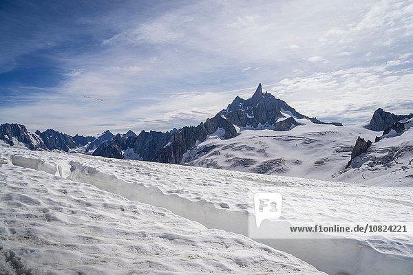 Gletscherspalte  Mer de Glace  Mont Blanc  Frankreich