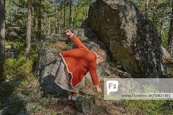 suchen Kleidung Wald Retro Mädchen
