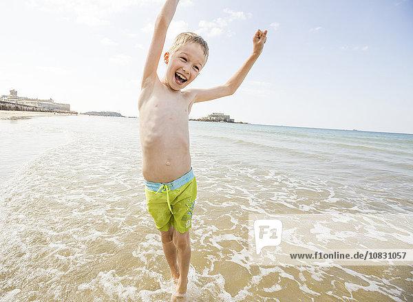 Europäer Strand Junge - Person spielen