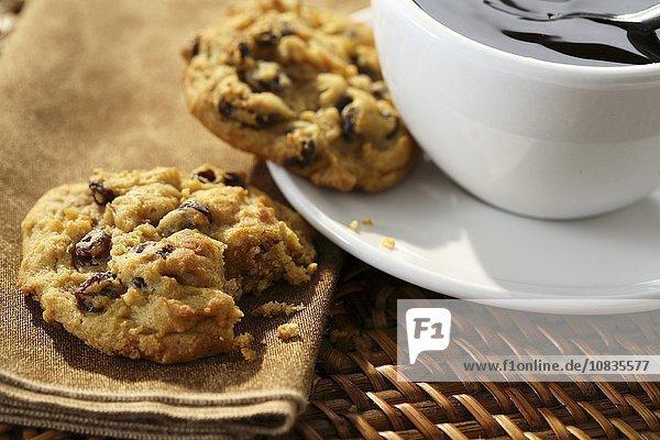 Cookies mit Cranberries zum Kaffee