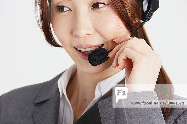Attractive Japanese office worker